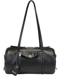 Miu Miu Grace Lux Duffle Bag - Black