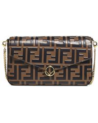 Fendi Ff Motif Mini Bag - Brown