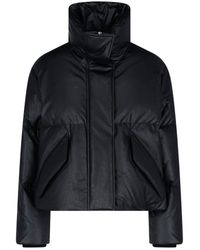 MM6 by Maison Martin Margiela Cropped Puffer Jacket - Black