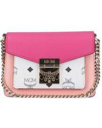 MCM Patricia Visetos Color Block Crossbody Bag - Pink