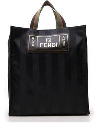 Fendi - Striped Tote Bag - Lyst
