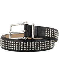 07871a7300b Saint Laurent 3 Passants Studded Belt in Black for Men - Lyst