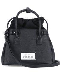 Maison Margiela 5ac Drawstring-detailed Tote Bag - Black