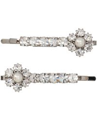 Alessandra Rich Crystal-embellished Hairpin - Metallic