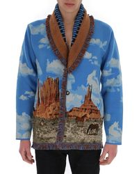 Alanui The Monument Valley Cardigan - Blue