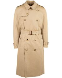 Burberry Long Westminster Trench Coat - Natural