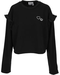 adidas Originals Ruffled Crewneck Sweatshirt - Black