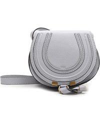 f780e1a97a007 Chloé Marcie Mini Python Bag in Black - Lyst