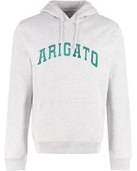Axel Arigato Logo Detailed Drawstring Hoodie - Gray