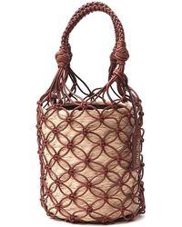 Miu Miu Woven Effect Bucket Bag - Brown