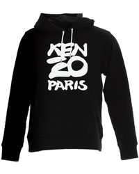 KENZO Paris Logo Hoodie - Black