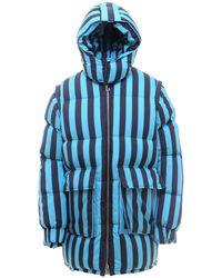 Sunnei Striped Padded Jacket - Blue