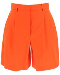Weekend by Maxmara Visino Cotton Blend Shorts - Orange