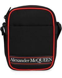 Alexander McQueen Logo Mini Messenger Bag - Black
