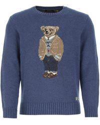 Polo Ralph Lauren Bear Intarsia Sweater - Blue