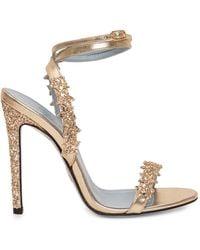Chiara Ferragni Alice Glittered Heeled Sandals - Metallic