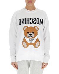Moschino Teddy Crewneck Sweatshirt - White