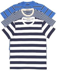 Marni 3-pack Striped T-shirts - Blue