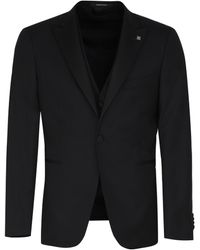 Tagliatore Three-piece Tailored Suit - Black
