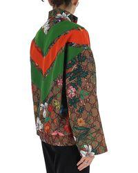 Gucci - GG Supreme Floral Print Zipped Jacket - Lyst