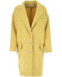 Étoile Isabel Marant Limi Cocoon Coat - Yellow
