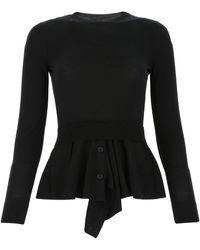 Alexander McQueen Black Wool Blend Sweater