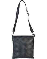 Bottega Veneta Intrecciato Weave Messenger Bag - Black