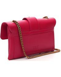 Pinko Love Classic Icon Simply Crossbody Bag - Red