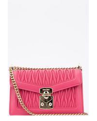 Miu Miu Confidential Matelassé Crossbody Bag - Pink