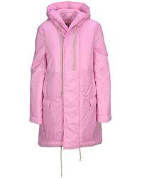 Rick Owens DRKSHDW Padded Fishtail Coat - Pink