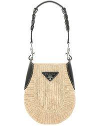 Prada Hobo Shoulder Bag - Natural