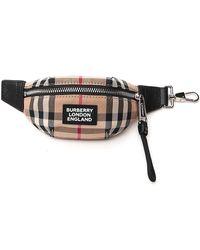 Burberry Vintage Check Bum Bag Charm - Natural