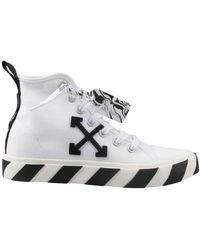 Off-White c/o Virgil Abloh Vulcanized Mid-top Sneakers - White