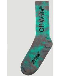 Off-White c/o Virgil Abloh Tie Dye Print Socks - Green