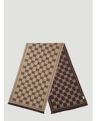 Gucci GG Jacquard Scarf - Brown