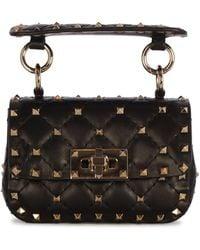 Valentino Garavani Garavani Rockstud Spike Micro Shoulder Bag - Black