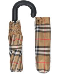 Burberry - Checked Classic Foldable Umbrella - Lyst