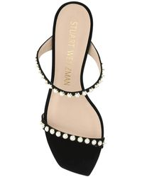 Stuart Weitzman Aleena Embellished Sandals - Black