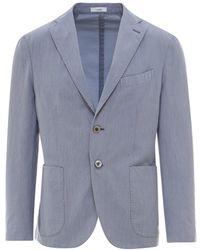 Boglioli Cotton Blazer - Blue