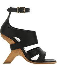 Alexander McQueen No.13 Wedged Sandals - Black