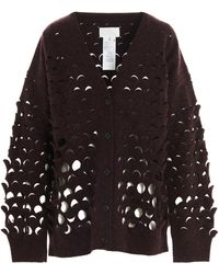 Maison Margiela Hole Sequins Cardigan - Red