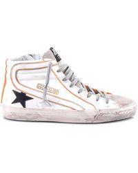 Golden Goose Deluxe Brand Distressed Hi-top Sneakers - White