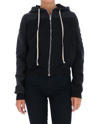 Rick Owens Drkshdw Drawstring Sweatshirt - Black