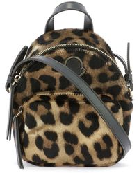 Moncler Kilia Small Quilted Animalier Crossbody Bag - Black