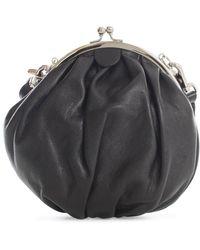 Y's Yohji Yamamoto Kiss Lock Strap Clutch Bag - Black