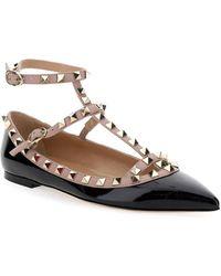 Valentino Garavani Rockstud Ballet Flats - Black