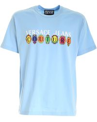 Versace Jeans Couture Logo Printed T-shirt - Blue