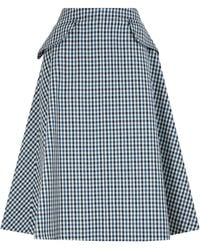 Lanvin Flap Pocket A-line Skirt - Blue