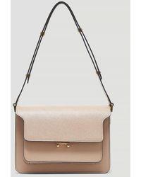 Marni Trunk Shoulder Bag - Brown