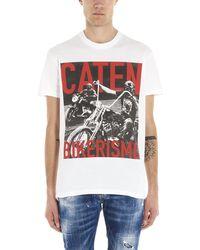 DSquared² Printed T-shirt - White